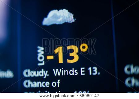 Cloudy And Cold Weather On Screen