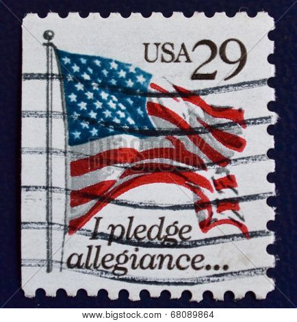 I pledge allegiance stamp