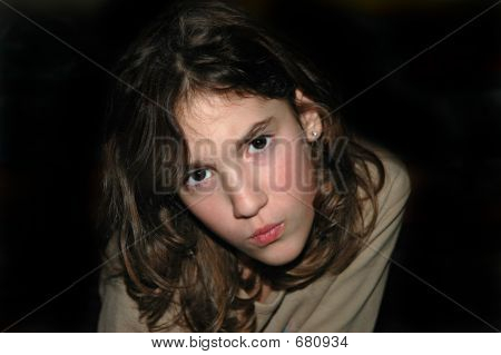 Frowning Girl