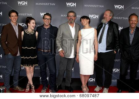 LOS ANGELES - JUL 9:  Manhattan Cast at the WGN Series Manhattan Photo Op July 2014 TCA at the Beverly Hilton Hotel on July 9, 2014 in Beverly Hills, CA