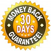 A money back guarantee symbol for your website poster