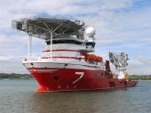 High tech offshore oil and gas subsea vessel poster