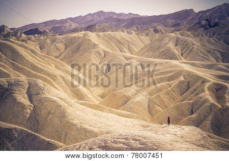 Zabriskie Point At Death Valley,california