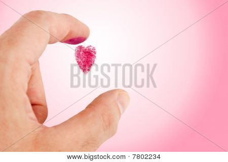 Heart Shaped Fingerprint