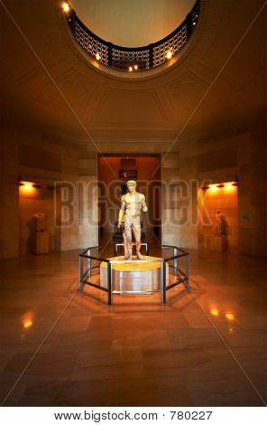 Sculpture & hallway
