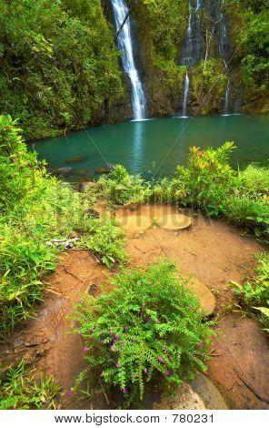 Secret waterfall on Kauai