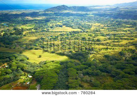 Aerial view Kauai land