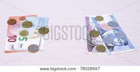 litas lits changeover euro exchange 2015 lithuania coins banknotes january poster