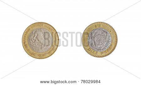 Mexican Coins Peso Aztecs