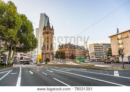 Eschersheimer Turm  In Frankfurt, Germany