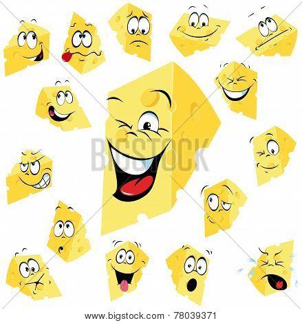 Piece Of Cheese Cartoon