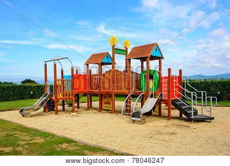 Playground With Blue Sky