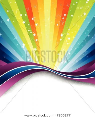 Abstract discotheque summer poster