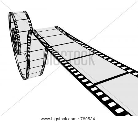 3D Realistic Film Strip
