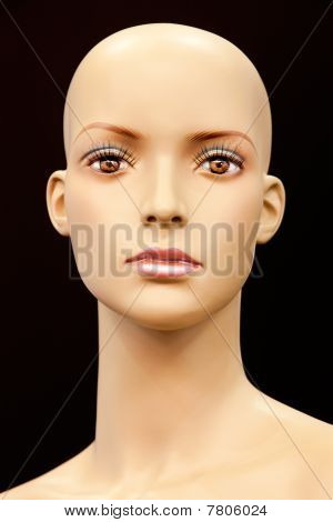 Face Of A Bald Mannequin