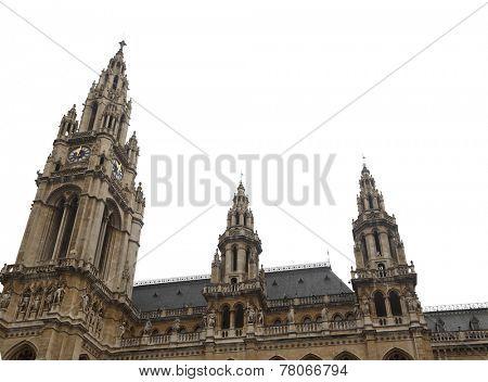 Rathausplatz Rathaus Town Hall Vienna isolated
