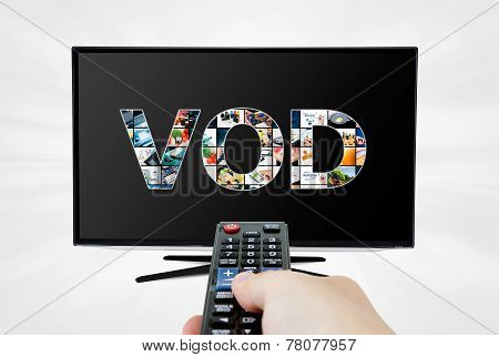 Video on demand VOD service on smart TV poster