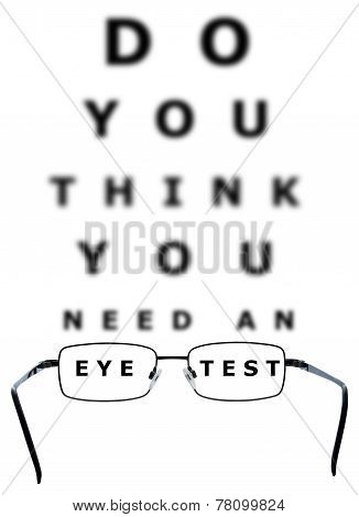 Eye Examination Chart And Glasses