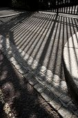 Shadow of a traditional Victorian London gate at Regents Park  poster