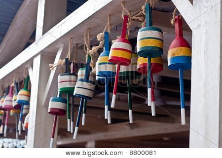 Colorful Lobster Trap Bouys