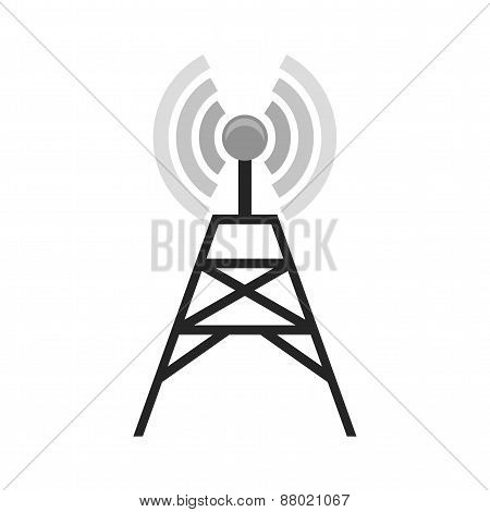Signals, telecom, tower, technology icon vector image. Can also be used for communication, connection, technology. Suitable for web apps, mobile apps and print media.