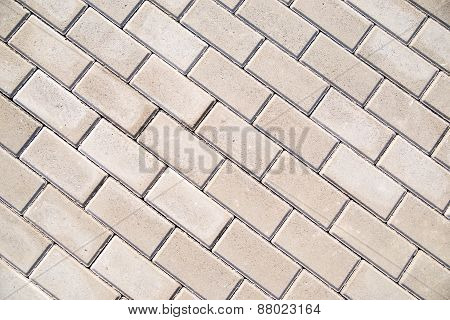 Paving Slabs Laid On The Ground. Can Be Used As A Texture.