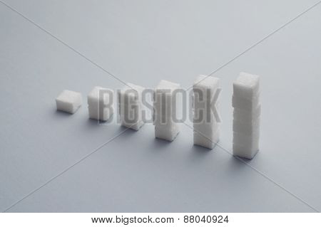 Ascending Stacks Of Sugar Cubes