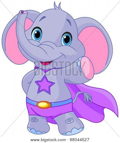 Illustration of Super Hero Elephant