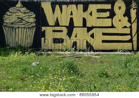 Wake And Bake Graffiti