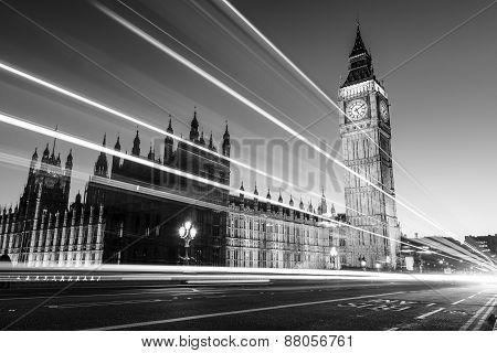 Big Ben At Westminster In London