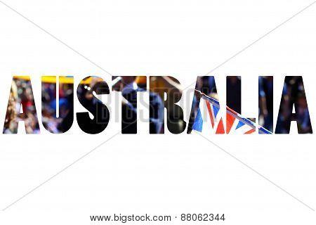 Word Australia Over Anzac Day In Perth