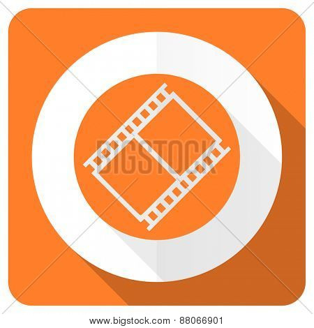 film orange flat icon movie sign cinema symbol  poster