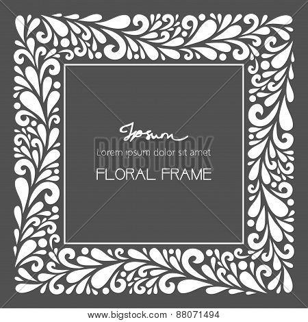 White Square Frame.