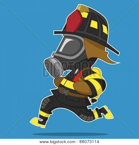 Firefighter hurry