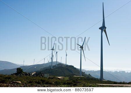 Windmill Landscape - Stock Image