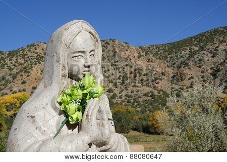 Statue of the Virgin at Santuario de Chimayo, New Mexico