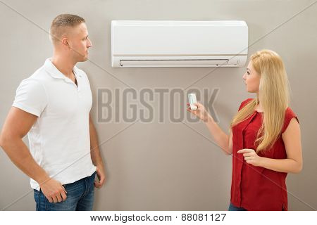 Operating Remote Control Of An Air Conditioner