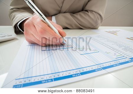 Businessman Making Gantt Diagram