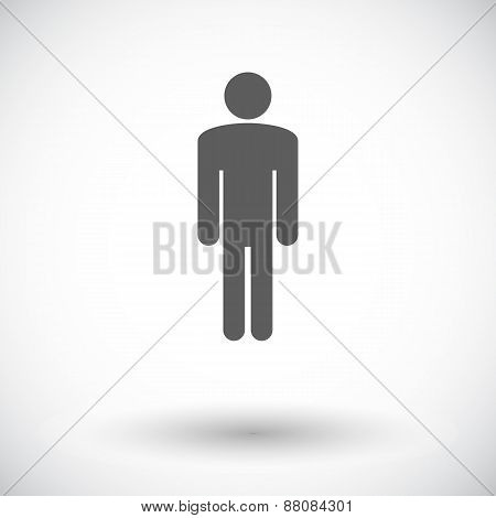 Male gender sign. Single flat icon on white background. Vector illustration. poster