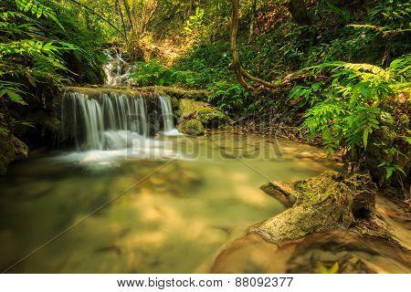wonderful waterfall in thailand Pugang waterfall chiangrai poster