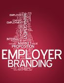 Word Cloud with Employer Branding related tags poster