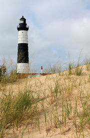 Lighthouse and Sand Dune
