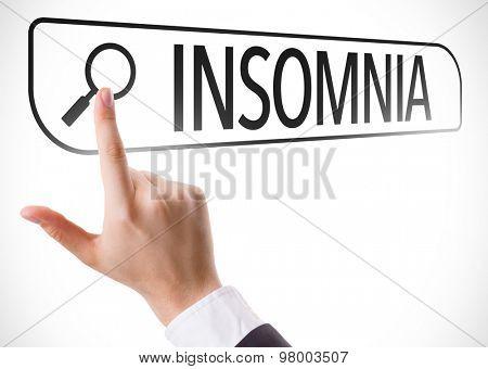 Insomnia written in search bar on virtual screen