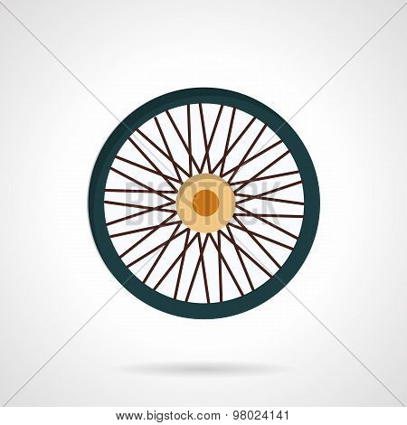 Flat color vector icon for bike wheel