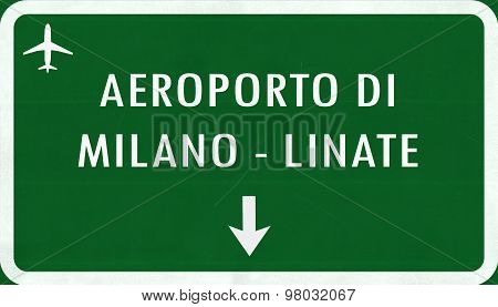 Mian Linate Italy Airport Highway Sign