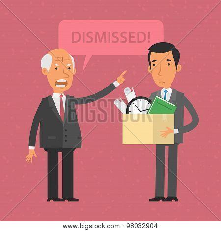 Head dismissed employee man