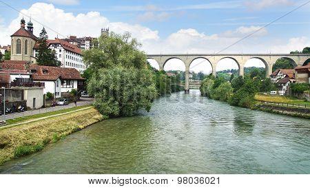 Zaehringen Bridge In Friburg.