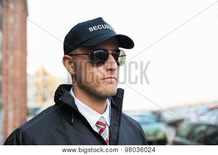 Portrait Of Young Security Guard