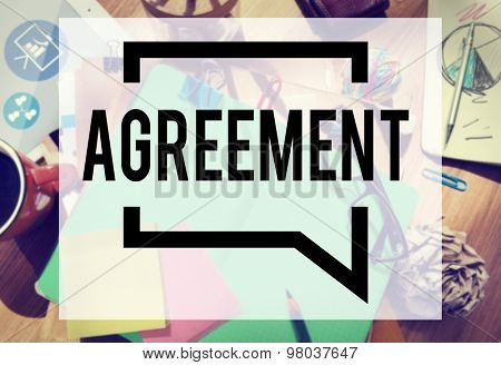 Agreement Collaboration Connection Cooperation Deal Concept poster
