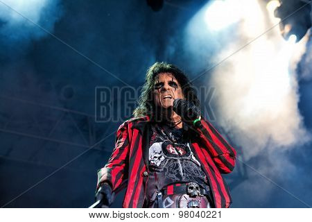June 28 2014 - Bay City Michigan - Alice Cooper performs in concert at Veterans Park in Bay City Michigan poster